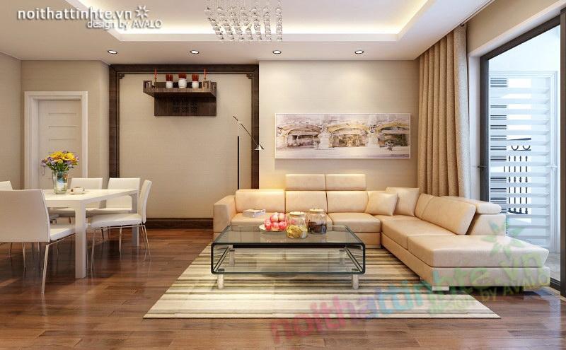 Phòng khách hiện đại Times City