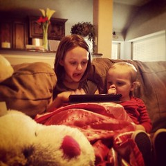 Kayson and Sissy playing games.