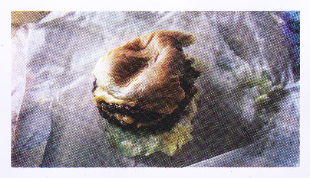 "Sarah Wrobel CMYK Gory Burger 11"" x 17"" Screen Print 2013"