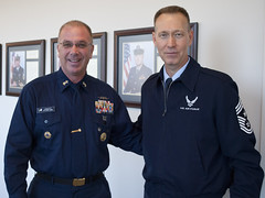 MCPOCG Leavitt talks leadership with CMSgt Small - 1