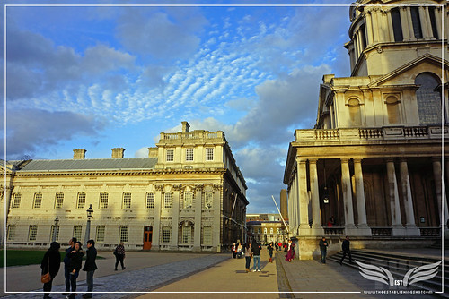 The Establishing Shot: THOR: THE DARK WORLD BATTLE OF GREENWICH FILM LOCATION - COLLEGE WAY, THE OLD ROYAL NAVAL COLLEGE (ORNC) GREENWICH, LONDON by Craig Grobler