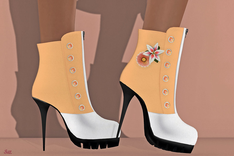 Wicca's Wardrobe Spring Flower Boots
