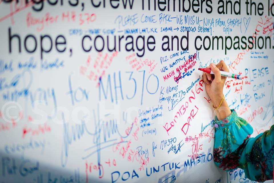 Hope, Courage and Compassion - MH370 @ Kuala Lumpur, Malaysia
