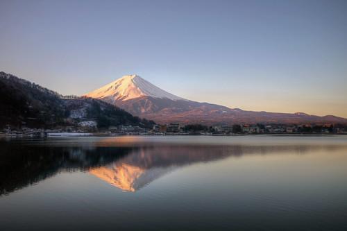 lake snow reflection japan sunrise asia fuji view sony mount 99 alpha slt a99