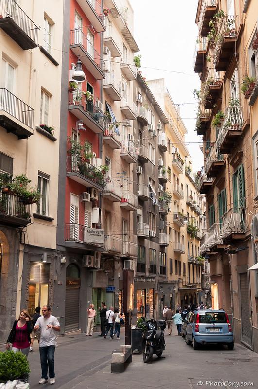 Napoli - street in Historic Center