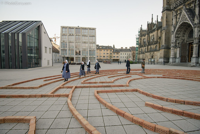 nuns in the maze of life, Linz, Austria