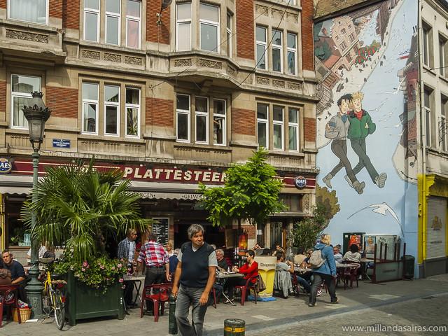 El comic belga en las calles de Bruselas