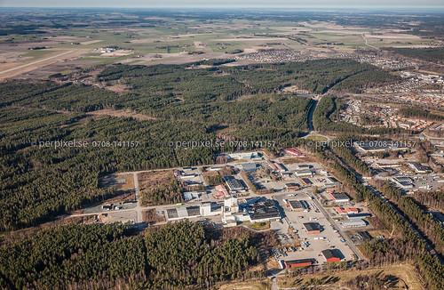 sverige swe lidköping västragötaland flygfoto helde kartåsen