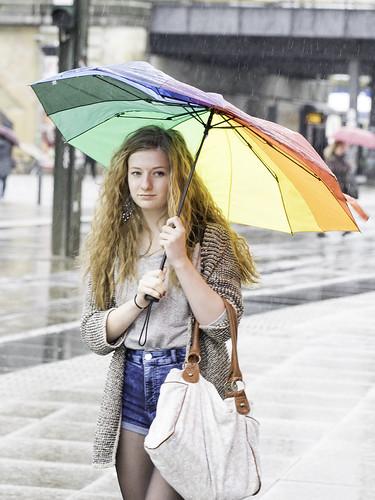 Woman, Rain