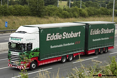 Scania R440 6x4 Curtainside with Drawbar Curtainside Trailer - PE61 KOV - Katherine Zarin - Eddie Stobart - M1 J10 Luton - Steven Gray - IMG_7137