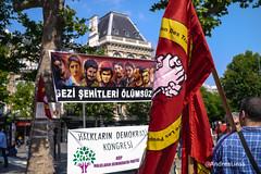 Démonstration sur le premier anniversaire des manifestations en Turquie