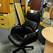 Black leather high back swivel chair