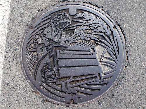 Kurayoshi Tottori, manhole cover 3 (鳥取県倉吉市のマンホール3)
