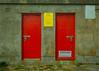 20150526-056_Howth Harbour_Red Doors - Symmetry