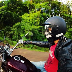 Motociclista solitario. #jeffinhotattow #mototerapia #tatuador