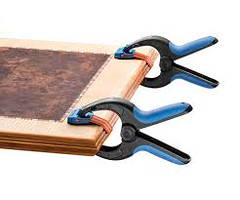 The Bandy Clamp quickly and easily clamps edging to a range of materials