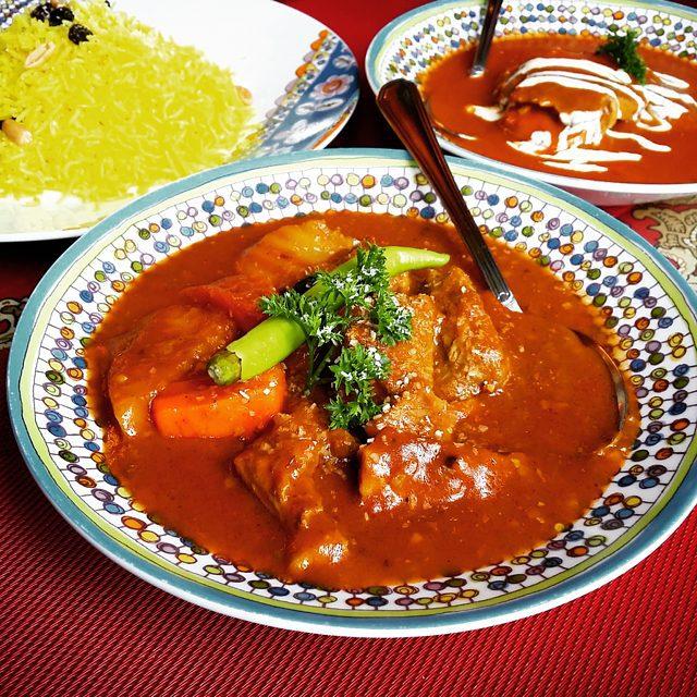 Basmati Rice, Beef Biryani, and Zaban