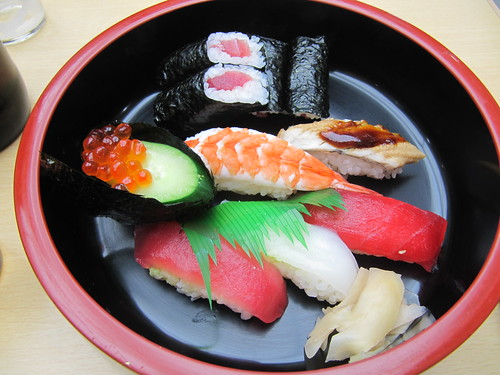 中京競馬場のはし本の上寿司