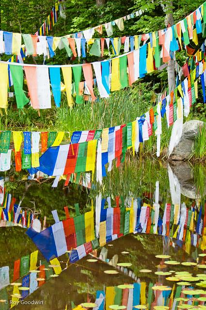 Prayer Flags - Peace Pagoda - Leverett MA