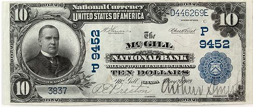 McGill National Bank Note face