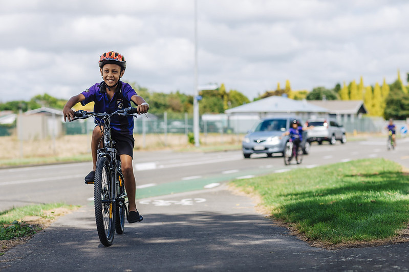 Kids on Bikes! Courtesy of NZTA