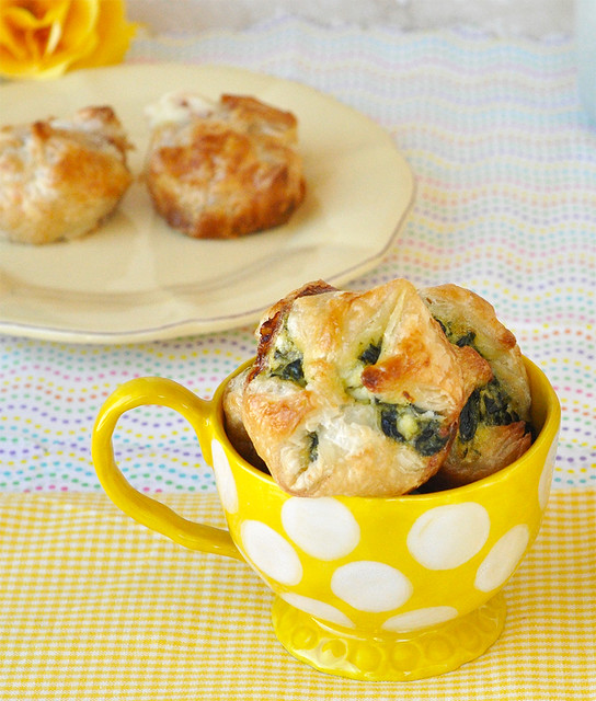 Puffs, Two Ways - Guava and Cream Cheese Puffs & Spinach Puffs