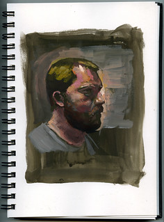 gouache self-portrait ~20 minutes