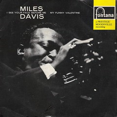 45 RPM - MILES DAVIS QUARTET - A) I See Your Face Before - B) My Funny Valentine - (FONTANA HOLLAND 1965)_A