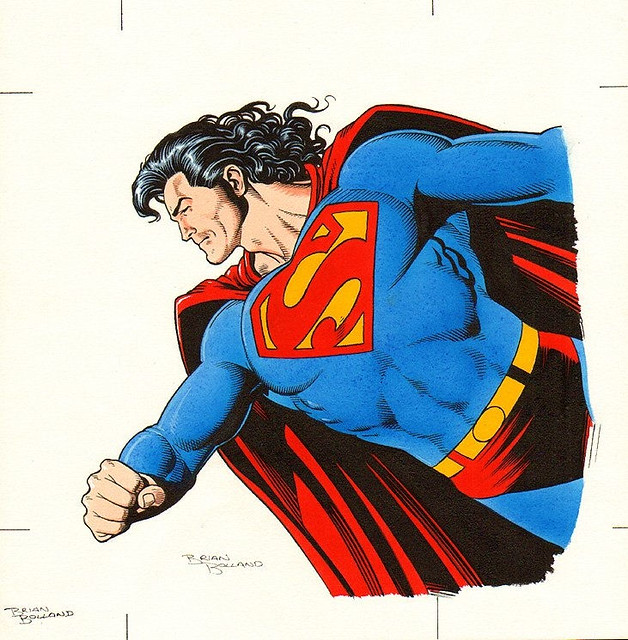Brian Bolland Superman Calendar Painting 1990