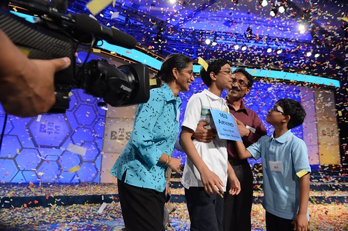 Champion Arvind Mahankali and family