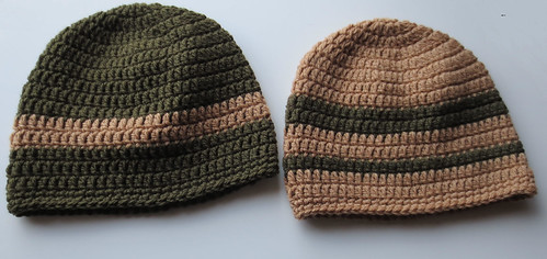 Crocheted Helmet Hat Pattern