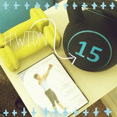 Tagged yesterday by the lovely @whitschoop for #widn About to do my first ever #kettlebell #workout. Excited to try it out! What are you beauties up to?? @bandeausandbows @agapelovegirl @lindseyb_rlf