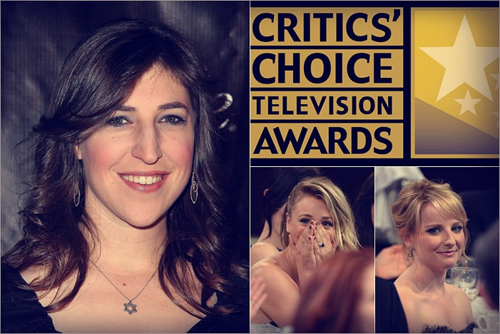 Mayim Bialik, Critics Choice TV Awards, Kaley Cuoco y Melissa Rauch