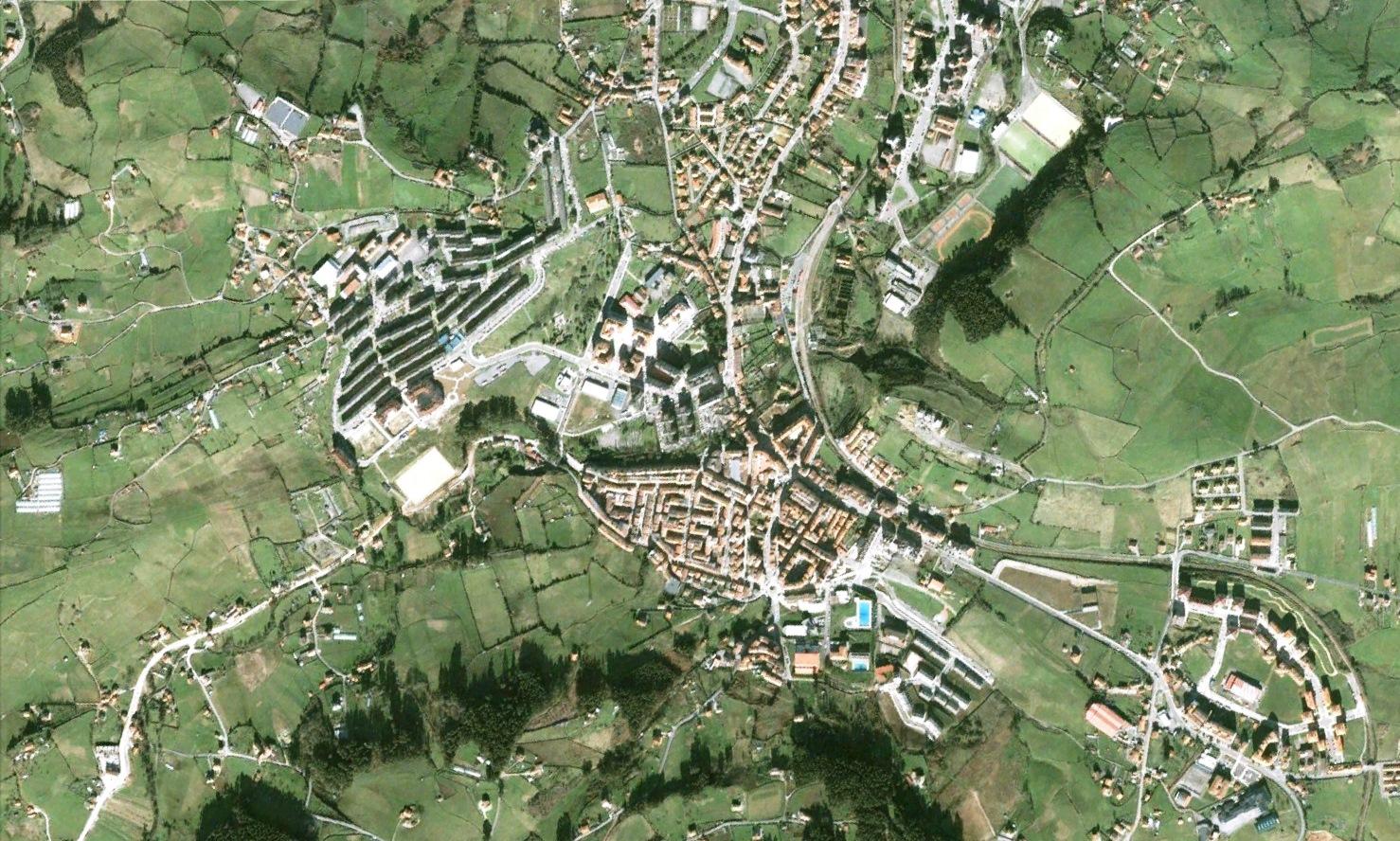 antes, urbanismo, foto aérea, desastre, urbanístico, planeamiento, urbano, construcción, Avilés, Asturias