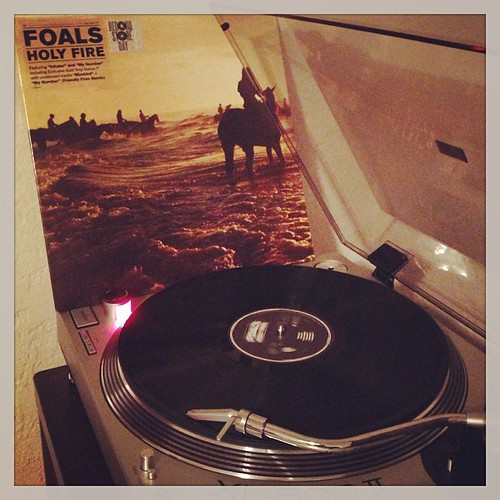 #tonightsoundslikethis #foals #nowspinning #holyfire #vinyigclub #photographicplaylist #clubrpm #friday #sticksandstonesmaybreakmybones by Big Gay Dragon