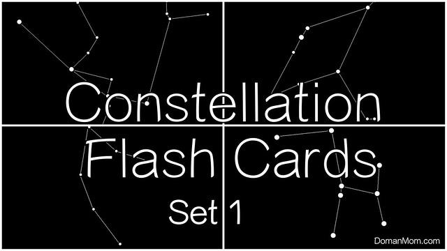 Free Constellation Digital Flash Cards Set 1