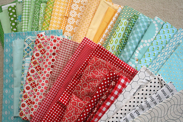 Picnic quilt fabric pull