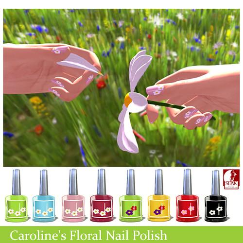 Caroline's Floral Nail Polish Ad
