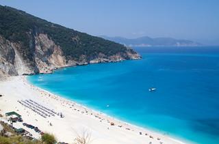Myrtos Beach (Παραλία Μύρτος) Myrtos Beach közelében Ásos képe. beach greece kefalonia myrtos
