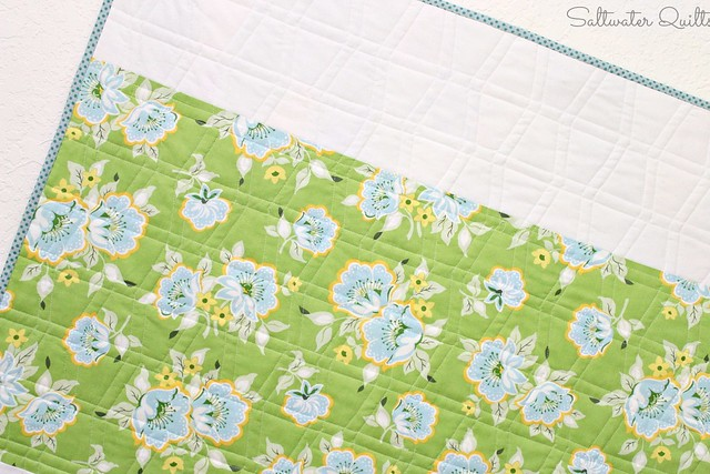 Tumbler Quilt Back | For the Birds | © Saltwater Quilts 2013