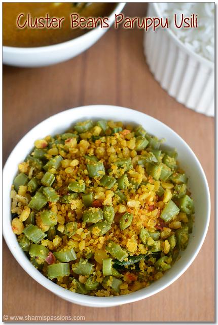 Cluster Beans Paruppu Usili Recipe