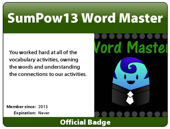 badge word master