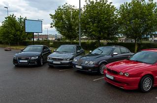 Rencontre entre Jaguar (et une Audi ^^)
