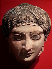 Mask of a woman with radiating waves of hair, Roman Period AD 225–250.jpg