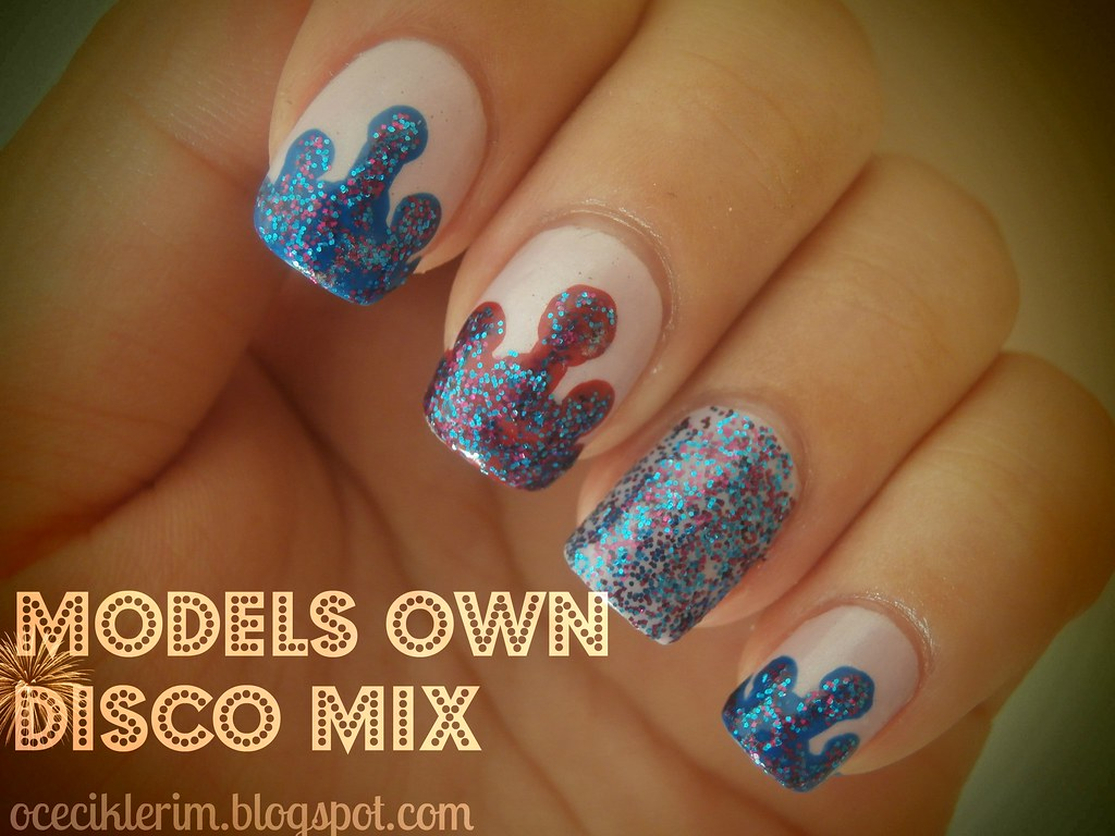 models own disco mix dripping nail art ocecikleriminyeri. Black Bedroom Furniture Sets. Home Design Ideas