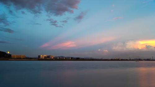 sunset japan moonrise jfe