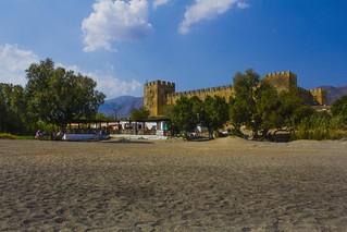 Image de Φραγκοκάστελλο Plage d'une longueur de 424 mètres. summer castle beach greece crete chania sfakia frangokastello 2013