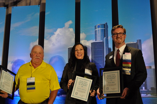 Level 2 Elected Officials Academy Graduates Hastings Councilmember Donald Bowers, Troy Councilmember Maureen McGinnis and Berkley Councilmember Steve Baker