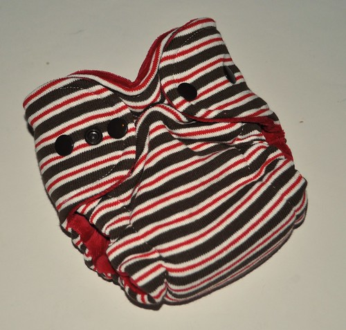 Bumstoppers Newborn Hybrid  Fitted Sock Monkey **New Style**