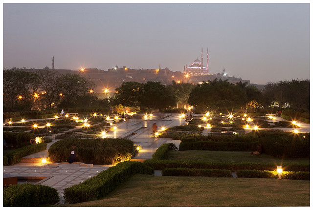 Al-Azhar Park.  Le Caire, Egypte.